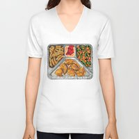 eat V-neck T-shirts featuring Eat Me by Rachel Caldwell