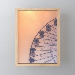 Golden Ferris-wheel -France, Europe, Wanderlust Vintage Summer Travel Architecture City Photography  Framed Mini Art Print