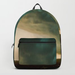 Pure Oklahoma - Windmill, Truck and Storm on Great Plains Backpack