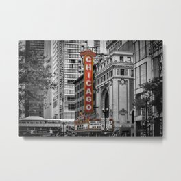 CHICAGO State Street Metal Print