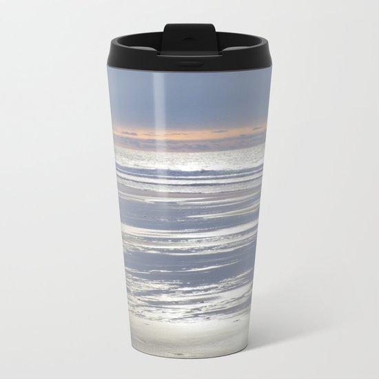 TRANQUIL BEACH WINTER SUNSET CORNWALL Metal Travel Mug