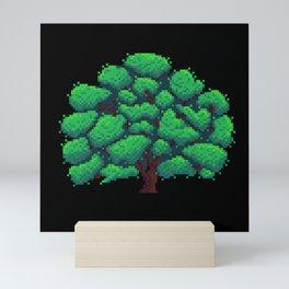 Oak Tree Pixelart Mini Art Print