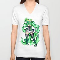 sublime V-neck T-shirts featuring Royal Ranger - Sublime Emerald by 121gigawatts