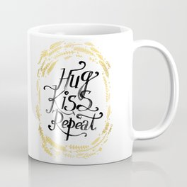Hug Kiss Repeat Coffee Mug