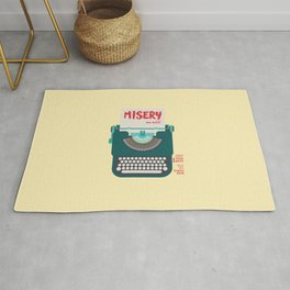 Misery, Horror, Movie Illustration, Stephen King, Kathy Bates, Rob Reiner, Classic book, cover Rug