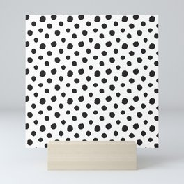 Minimal - black polka dots on white - Mix & Match with Simplicty of life Mini Art Print