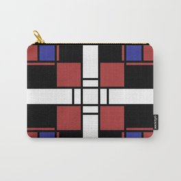 Neoplasticism symmetrical pattern in Well Read (red) Carry-All Pouch