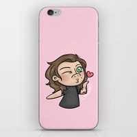 cyrilliart iPhone & iPod Skins featuring Emoji Kisses: Harry by Cyrilliart