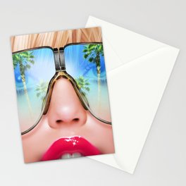 Beach Blonde Babe Stationery Cards