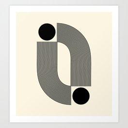Abstraction_SUN_INFINITY_LINE_POP_ART_Minimalism_066A Art Print