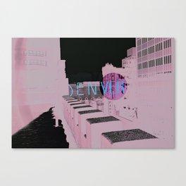 Denver Poster Canvas Print