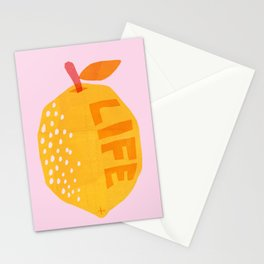 Abstraction_Lemon_Life Stationery Cards