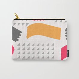 Modern triangles and happy colors Carry-All Pouch