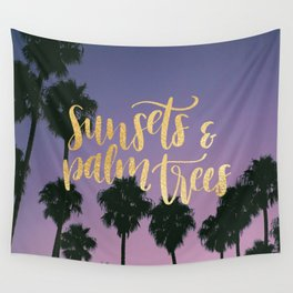 Sunsets & Palmtrees Wall Tapestry