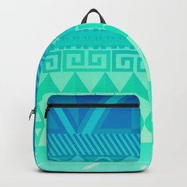 Blue Mayan Backpack