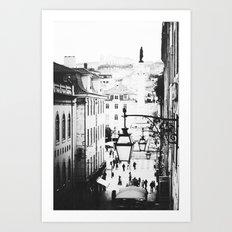 B&W Lisbon Art Print