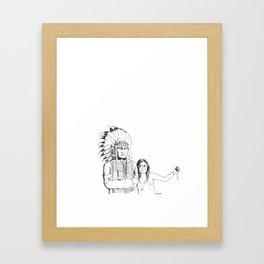 Please Smile Framed Art Print
