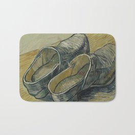 A Pair of Leather Clogs Bath Mat