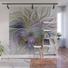 Abstract Flower, Colorful Floral Fractal Art Wall Mural