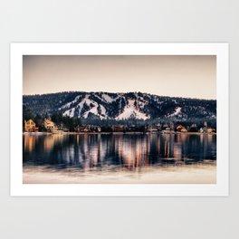 Big Bear Lake Winter Art Print