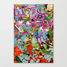 he's stacking pink nickels! Canvas Print