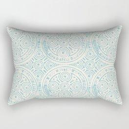 notting hill: aqua with cream Rectangular Pillow