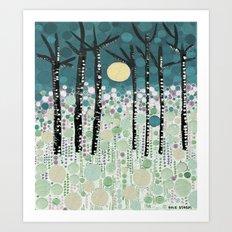 :: Moonlight Kiss :: Art Print