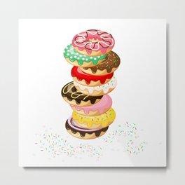 Stack of Donuts Metal Print