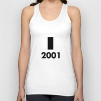 2001 a space odyssey Tank Tops featuring 2001: A Minimalist Space Odyssey by João Malossi