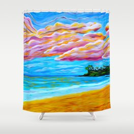 Pāʻia Bay Sunrise Shower Curtain