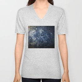 Swirling Blue Clouds of Planet Jupiter from Juno Cam Unisex V-Neck