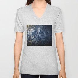Swirling Blue Clouds of Planet Jupiter from Juno Cam Unisex V-Neck
