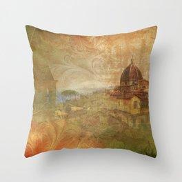 Italian Manuscript Throw Pillow