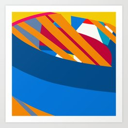 Sunset at the Sea Graphic Abstract Design by Emmanuel Signorino Art Print