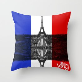 Paris Pride Throw Pillow