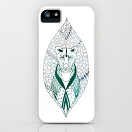 The Tribal Lioness iPhone Case