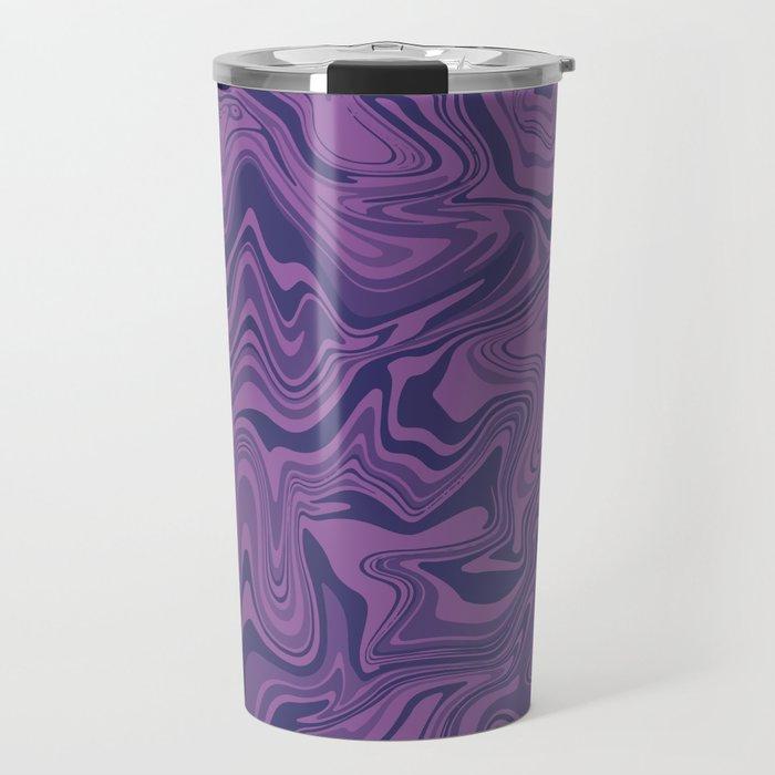 Two-toned purple Agate Travel Mug
