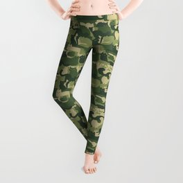 Camouflage Cats | Woodland Green Camo Leggings