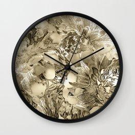 Proud Dahlias 3 Wall Clock