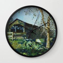 Cedarburg Covered Bridge Wall Clock