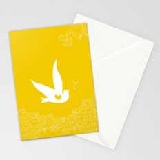 Love and Freedom - Gold/Yellow Stationery Cards