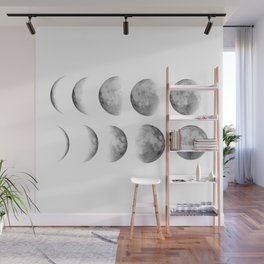 Phases (white) Wall Mural