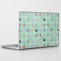 digimon Laptop & iPad Skins featuring Nade Nade by Kiriska