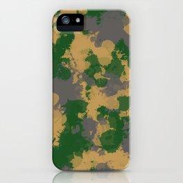 Camo Paint Splatter iPhone Case