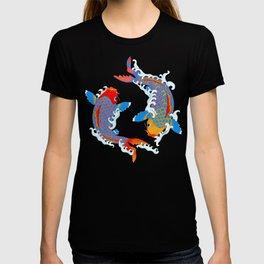 Koi fish / japanese tattoo style pattern T-shirt