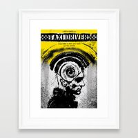 taxi driver Framed Art Prints featuring Taxi Driver by Dan K Norris