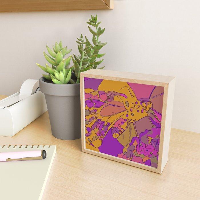 BUTTERFY - GOLD Framed Mini Art Print