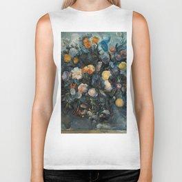 "Paul Cezanne ""Bouquet of flowers after Delacroix"" Biker Tank"
