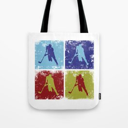Hockey Game Tote Bag
