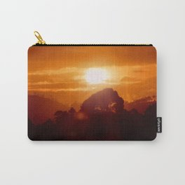 Sunset on the wild forest in the Andes Mountains Carry-All Pouch